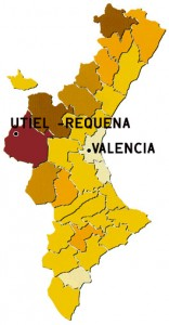 Mapa Utiel Requena