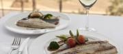Plato de pescado en el Coso del Mar Plato de pescado en el Coso del Mar