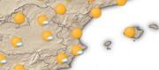 mapa valencia con sol