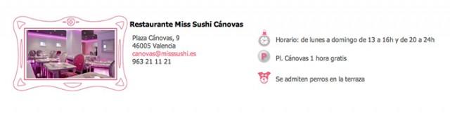 restaurante miss sushi canovas