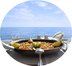 Paella comer playa valencia