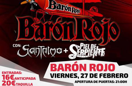 Barón Rojo en concierto Sala Fussion