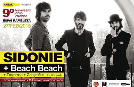 Sidonie y Beach Beach en el 9º Aniversario Vinilo
