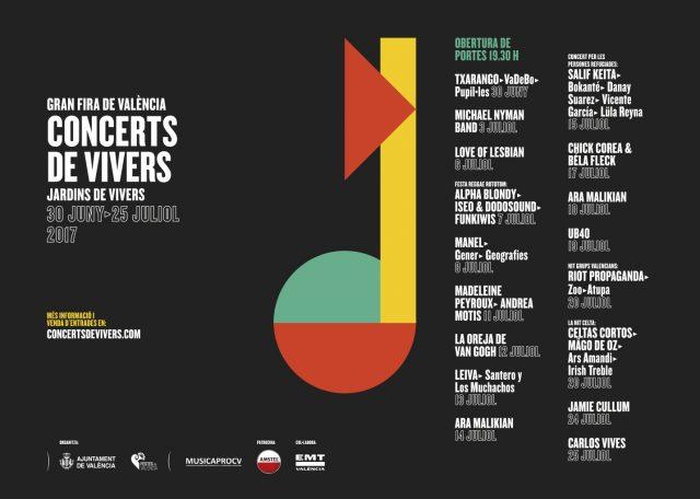 cartel conciertos de viveros