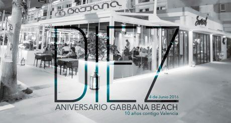 GABBANA BEACH ANIVERSARIO VALENCIA