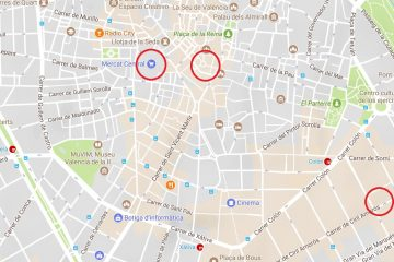 Market locations in Valencia