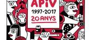 Cartel Exposición APIV-20anys en Pepita Lumier
