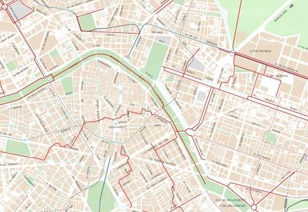 Mapa Zona Azul Valencia.Carril Bici En Valencia Love Valencia