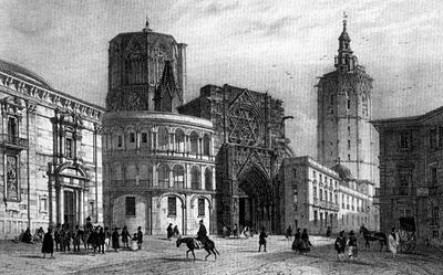 La plaza de la virgen en blanco y negro love valencia for Fotos antiguas de valencia