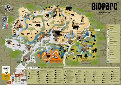 Bioparc Mapa. plano zoo
