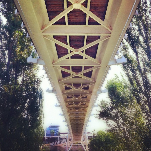 Under the bridge...