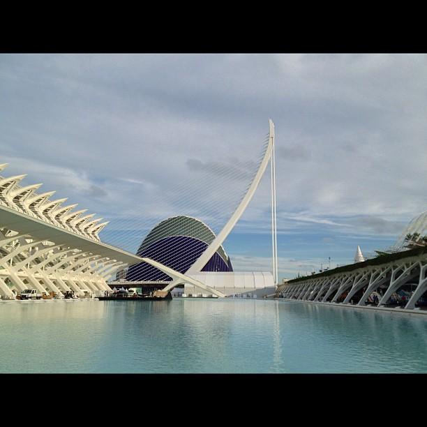 Science & Art building in Valencia #lovespain #lovevalencia #valencia #lovinglife #lovingtheweather #awayfromlondon #thetraveller #journeytospain #happydays #holiday #sobrightandsolight #art #building