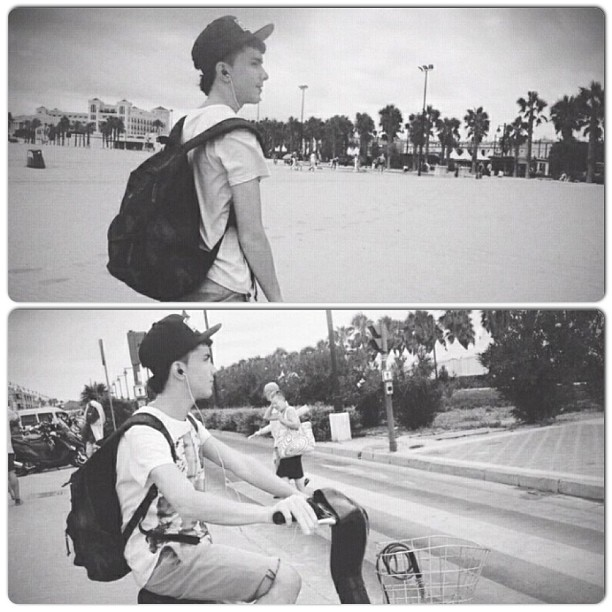 #instacollage #nearthebeach #myself #obey #summer #lovevalencia #2012 #ridebike #obey #bag #cute #people #headphones #nomore