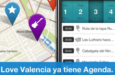 Love Valencia app tiene agenda