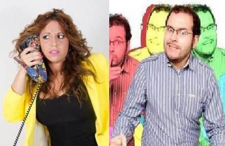 Estela Rodríguez y el Maestro Benavente en el Circuito Café Teatro de Valencia
