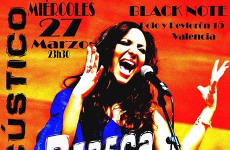 Rebeca Moscardó concierto Black Note Valencia 2013
