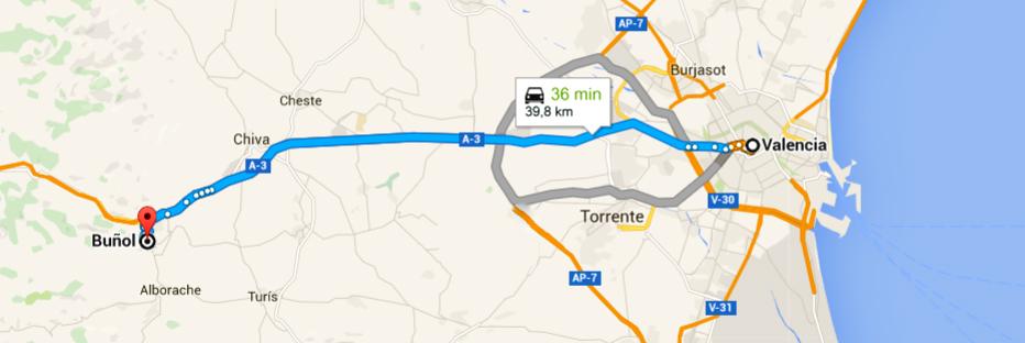 Ir hasta buñol en Coche desde Valencia para la Tomatina