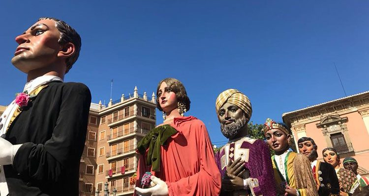 Cabezudos en el Corpus de Valencia