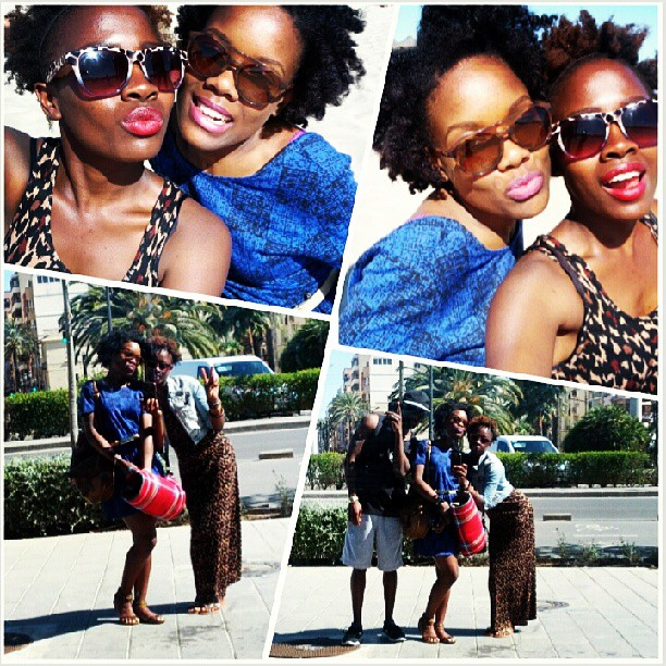 Naturals be like...off to the beach @doobyrey #redlips #pinklips #naturalsdayout #lovevalencia