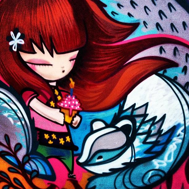 Bon dia a tots, hoy miércoles va de graffiti. I ? graffiti