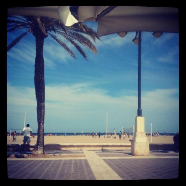 Coffee break :) #lovevalencia #beach #sun #ocean