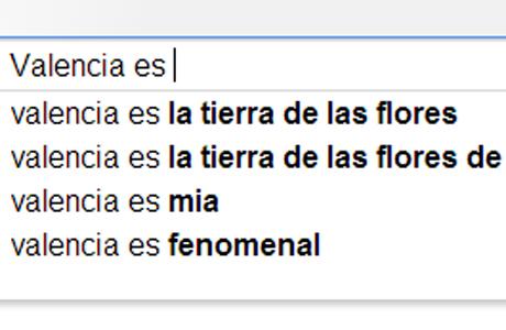 Valencia segun Google