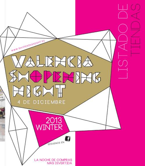 Listado de tiendas Valencia Shopening Night