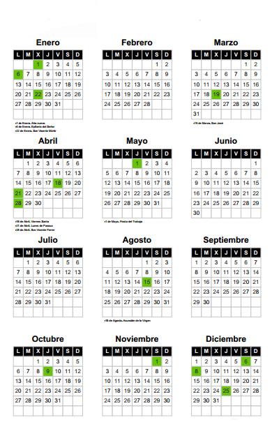 Calendario Laboral De Valencia.Calendario Laboral En Valencia 2014 Love Valencia
