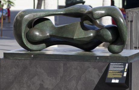 Henry Moore en la Plaza del Ayuntamiento de Valencia hasta el 7 de mayo