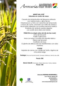 menu san jose arroceria hispania beniparrell