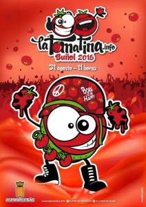 Cartel Fiesta de la tomatina 2016