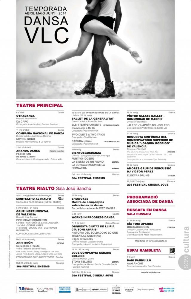 CARTELLS PROGRAMACIÓ  Dansa Valencia 2014