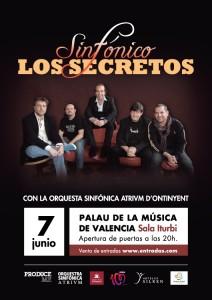 Los Secretos y Orquesta Sinfónica Atrium d'Ontinyent en el Palau de la Música