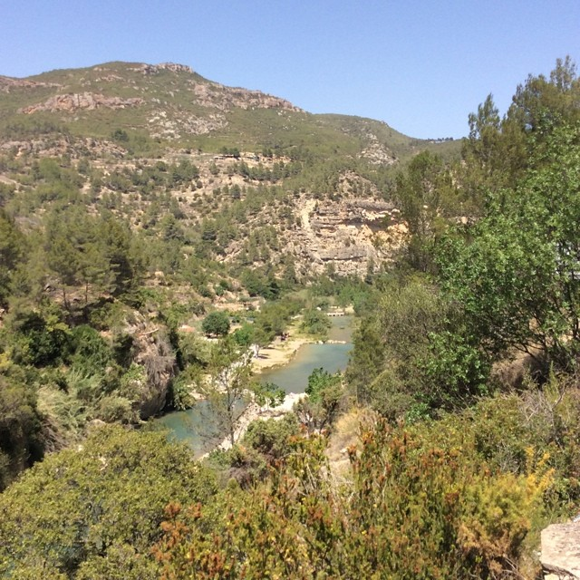 This is where I was on Sunday. The scenery and countryside in Spain is so lovely. #montanejos #lovevalencia
