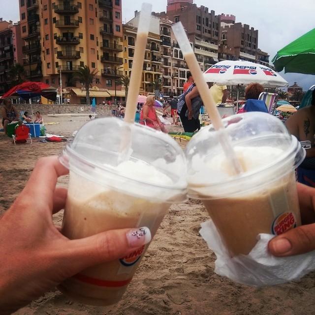 De frappés y playa  #lovevalencia