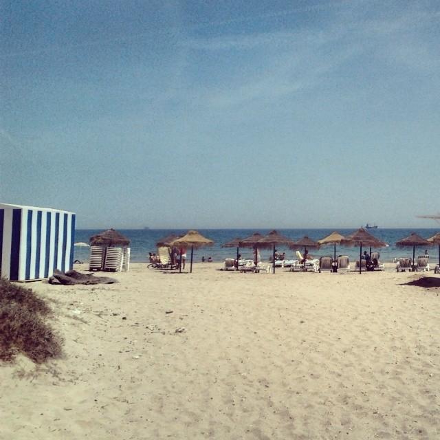 Con lo #bonita q es esta #playa del sur de la #ciudad de #valencia y parece q el #ayuntamientodevalencia hace #huelga de recogida de basura. Es una PENA la verdad...