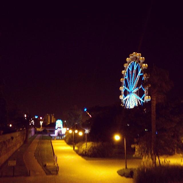 Mientras paseando por Turia... #parqueturia #lovevalencia #noche