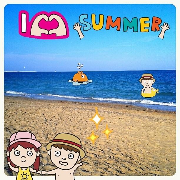 #summer is here!!! Y soy muy moñas ? #sea #water #fotomovil_es #ig_europe #igerspain #igersvalencia #igerscomunitat #ig_spain #beach #playa #valencia #valenciaterraimar #kawaii #kawaiistagram #spain #cute #cartoon #blue #instamood #lovevalencia