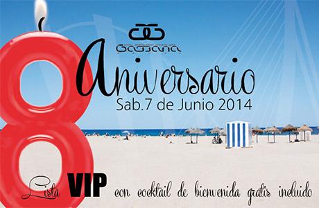 Gabbana Beach 8 aniversario valencia