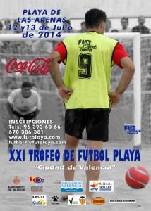 XXI Trofeo de fútbol playa Ciudad de Valencia - Cartel