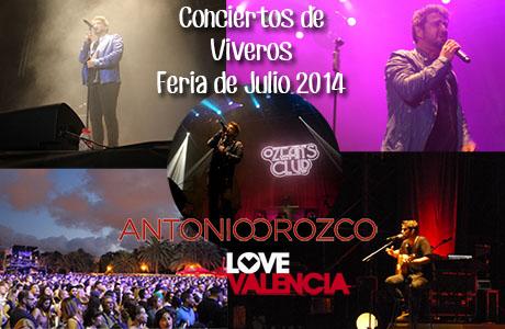 Antonio Orozco Conciertos de Viveros