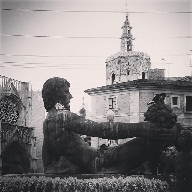 Fuente del Turia #Valencia #blackandwhite