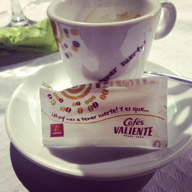 Suerte..#cafe#suerte#profetic#message#lovevalencia #love #life#live#dream#coffee