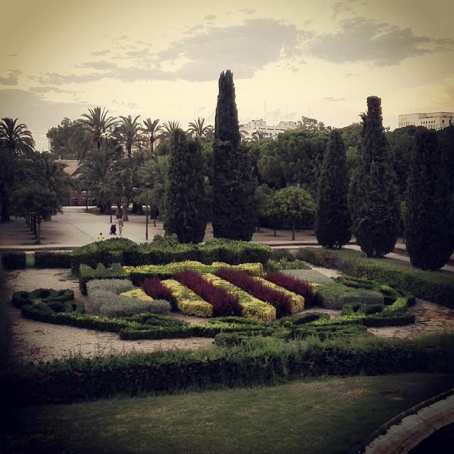 Valencia. #valencia #españa #spain #valenciagrafias #valenciastreet #lovevalencia #valenciaenamora #instavalencia #turia #cauce #escudo #jardin #garden #green
