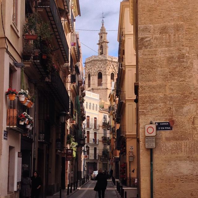El #Miguelete visto desde el #Barrio #ElCarmen #Valencia #LoveValencia