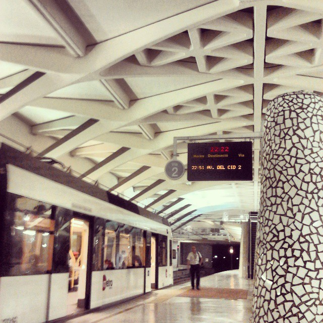 en el #metro... #metrovalencia #alameda