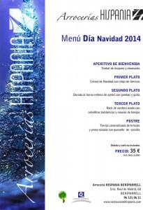 Menú de Navidad Arrocería Hispania Beniparrell