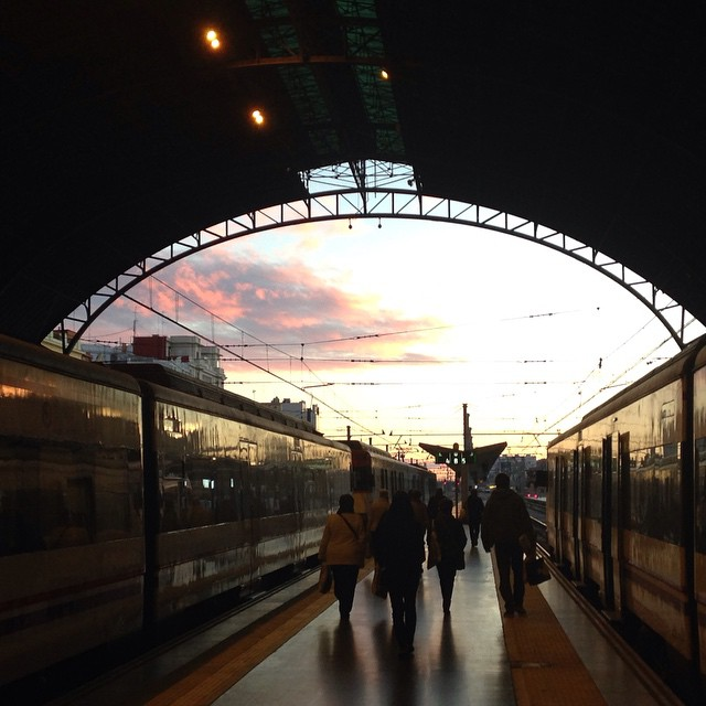 Estació del Nord, 2014. #valencia #spain #lovevalencia #train #station #sky #autumn