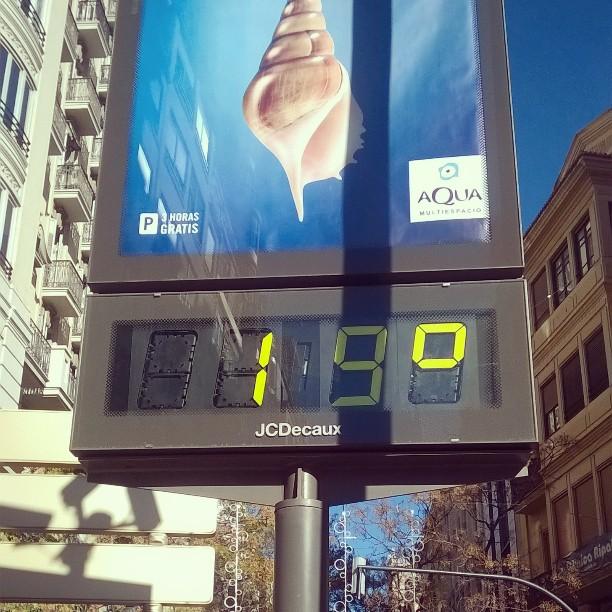 19 grados!! #lovevalencia #solete