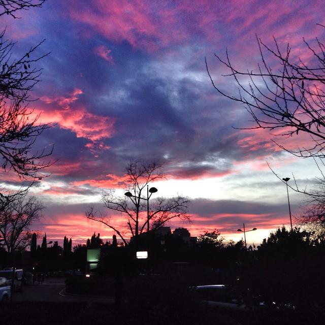 València 2015 #spain #valencia #lovevalencia #sunset #sky #clouds #pink #winter